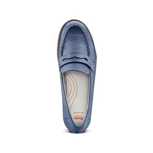 Mocassini Flexible in pelle flexible, blu, 514-9154 - 17