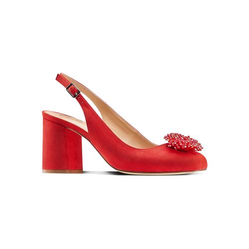 Sling Back Insolia con perline insolia, rosso, 729-5216 - 13