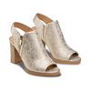 Tronchetto open toe bata, oro, 721-8254 - 16