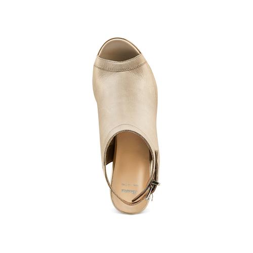 Sandali con tacco alto bata, beige, 724-2187 - 17