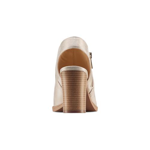 Tronchetto open toe bata, oro, 721-8254 - 15