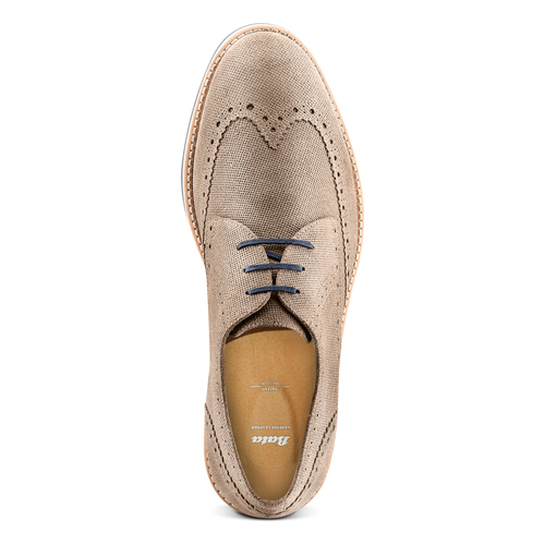 Stringate in suede bata, marrone, 823-3324 - 17