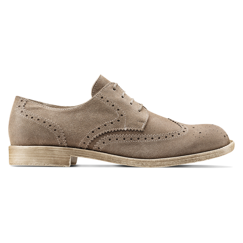 Derby in suede da uomo bata, marrone, 823-3306 - 26