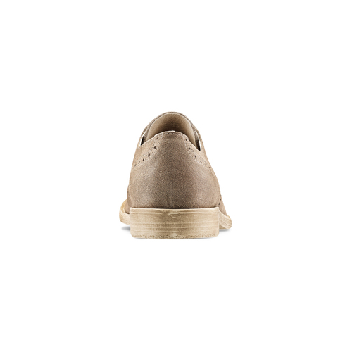Derby in suede da uomo bata, marrone, 823-3306 - 16