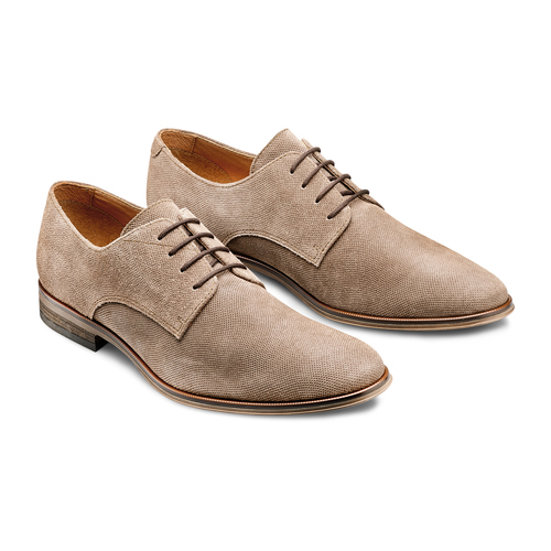 Derby da uomo in suede bata, marrone, 823-3297 - 16