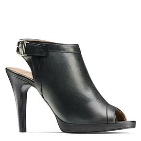 Sandali con tacco alto bata, nero, 724-6187 - 13