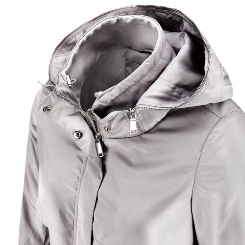 Giacca lunga con cappuccio bata, bianco, 979-1178 - 15