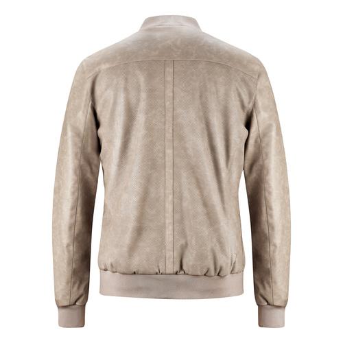 Bomber da uomo con trafori bata, grigio, 971-2197 - 26