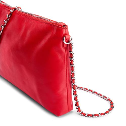 Tracolla in vera pelle bata, rosso, 964-5252 - 15