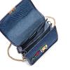 Tracolla in Jeans con patch bata, blu, 969-9321 - 16