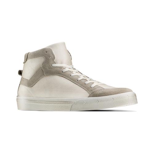 Sneakers alte da uomo bata, bianco, 841-1406 - 13