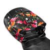 Zaino con stampa floreale bata, nero, 969-6308 - 17