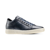 Sneakers in pelle bata, blu, 844-9137 - 13