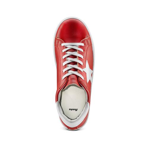 Sneakers con stella bata, rosso, 541-5376 - 17