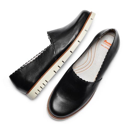 Mocassini da donna flexible, nero, 514-6148 - 26