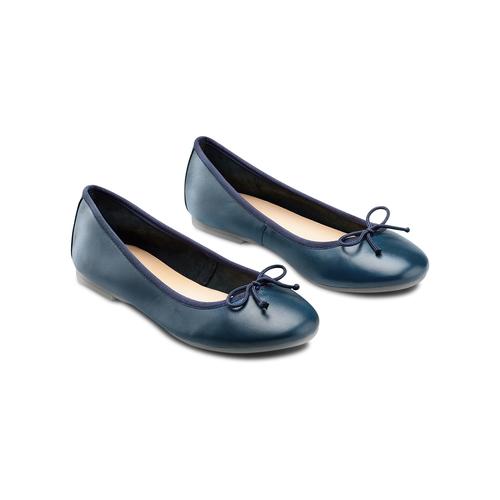 Ballerine da donna bata, blu, 524-9144 - 16