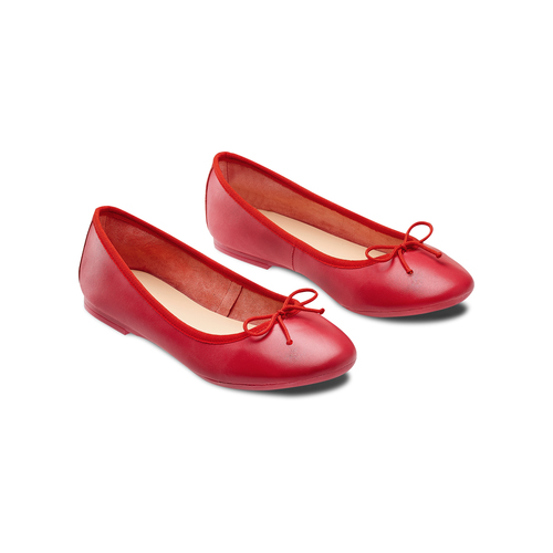 Ballerine da donna bata, rosso, 524-5144 - 16