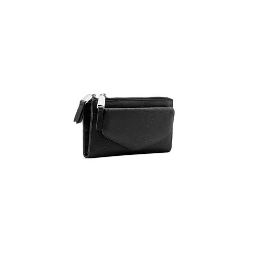 Portafoglio con tasca frontale bata, nero, 941-6168 - 13
