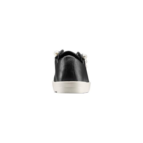 Sneakers con maxi perle bata, nero, 541-6375 - 15