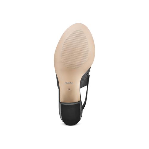 Sandali in pelle bata, nero, 764-6161 - 19