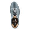 Stringate in pelle weinbrenner, blu, 844-9345 - 17