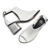 Sandali in pelle bata, bianco, 724-1297 - 26
