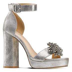 Sandali con tacco alto insolia, argento, 769-1165 - 13