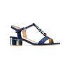 Sandali con tacco basso insolia, blu, 669-9131 - 13