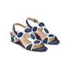 Sandali con tacco basso insolia, blu, 669-9297 - 16