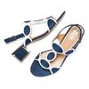 Sandali con tacco basso insolia, blu, 669-9297 - 26