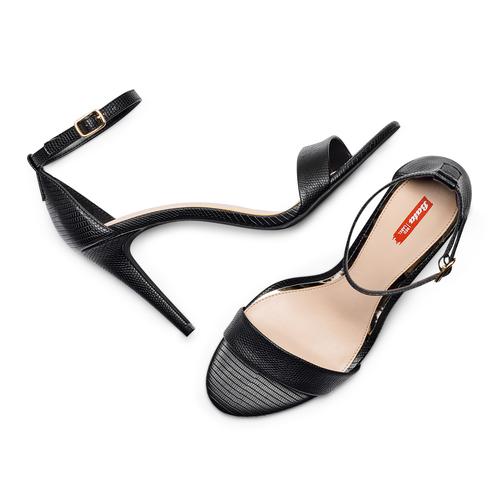 Sandali con tacco alto bata-rl, nero, 761-6335 - 26