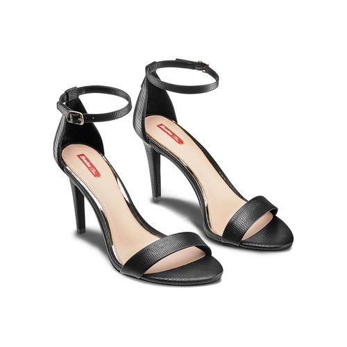 Sandali con tacco alto bata-rl, nero, 761-6335 - 16