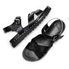 Sandali con borchie bata, nero, 561-6368 - 26
