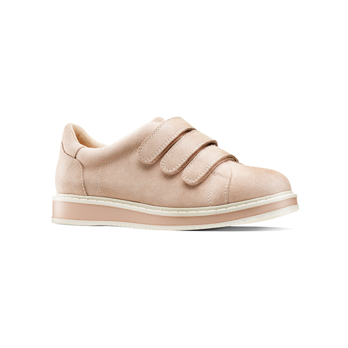 Sneakers in suede bata, rosa, 543-5401 - 13