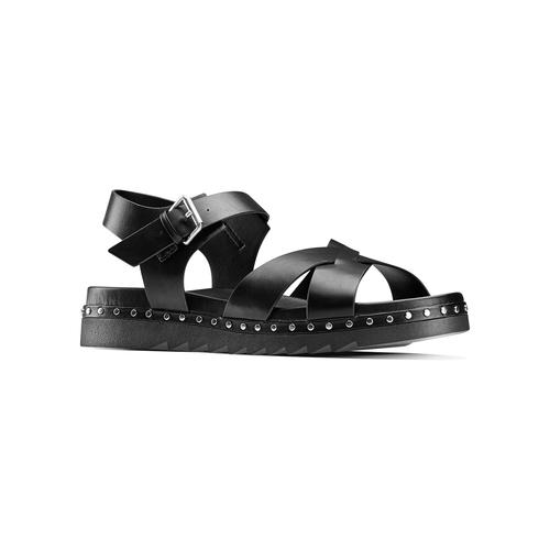 Sandali con borchie bata, nero, 561-6368 - 13