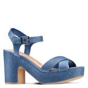 Sandali con tacco largo bata-rl, blu, 769-9328 - 13