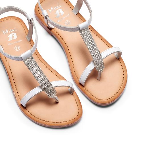 Sandali in pelle mini-b, bianco, 364-1126 - 26