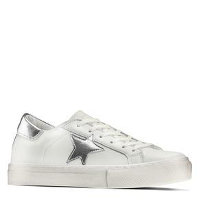 Sneakers con stella bata, bianco, 541-1376 - 13
