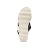 Sandali con zeppa bata, nero, 661-6282 - 19