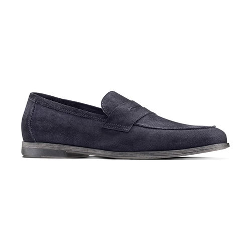 Mocassini in suede bata, blu, 853-9129 - 13