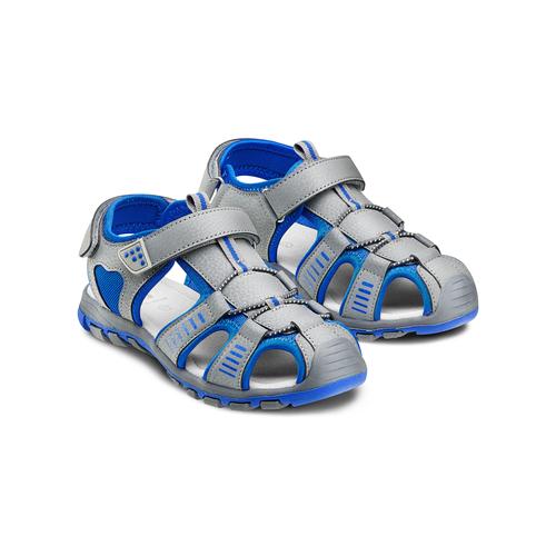 Sandali chiusi da bambino mini-b, grigio, 261-2181 - 16