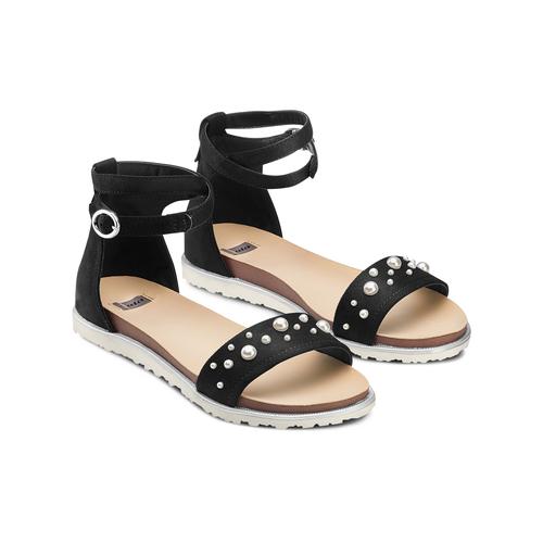 Sandali con perle bata, nero, 569-6356 - 16