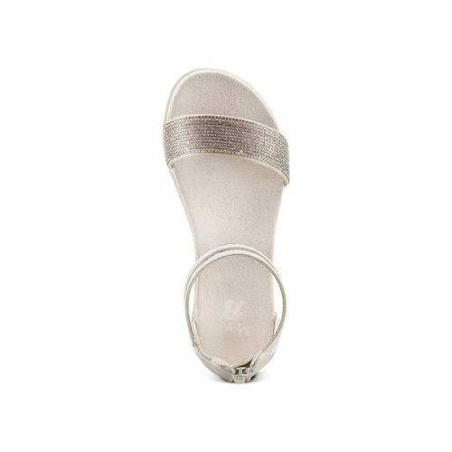 Sandali con strass mini-b, argento, 361-1166 - 17