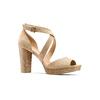 Sandali con tacco insolia, beige, 769-8263 - 13