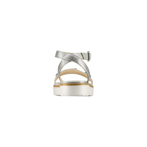 Sandali con strass mini-b, argento, 361-1236 - 15