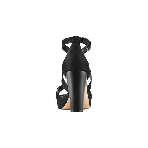 Sandali con tacco insolia, nero, 769-6263 - 15