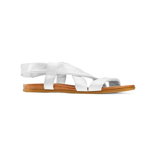 Sandali in pelle bata, bianco, 564-1443 - 13