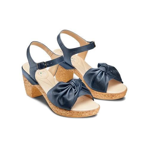Sandali con fiocco bata-touch-me, blu, 664-9302 - 16