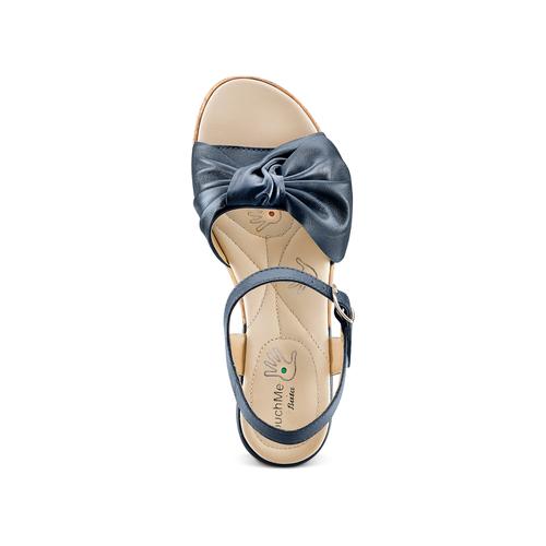 Sandali con fiocco bata-touch-me, blu, 664-9302 - 17