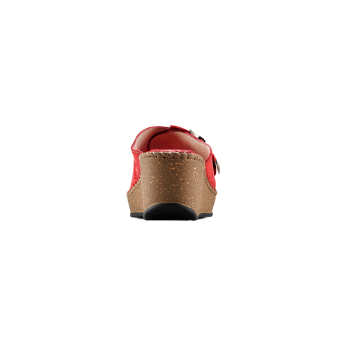 Ciabatte in vera pelle bata-comfit, rosso, 774-5107 - 15